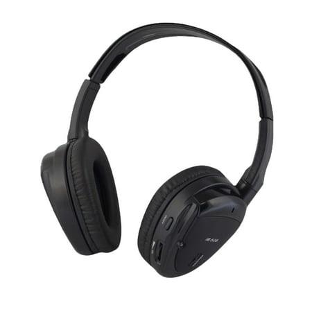 Wireless Dual Channel IR Headphone with Zippered Hard Storage Case Vission (Wireless Dual Channel Ir Headphones)