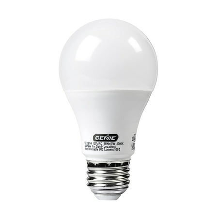 Genie LED Garage Door Opener Light Bulb - 60 Watt (800 Lumens) - Made to Minimize Interference with Garage Door Openers (Compatible with All Major Garage Door Opener Brands)