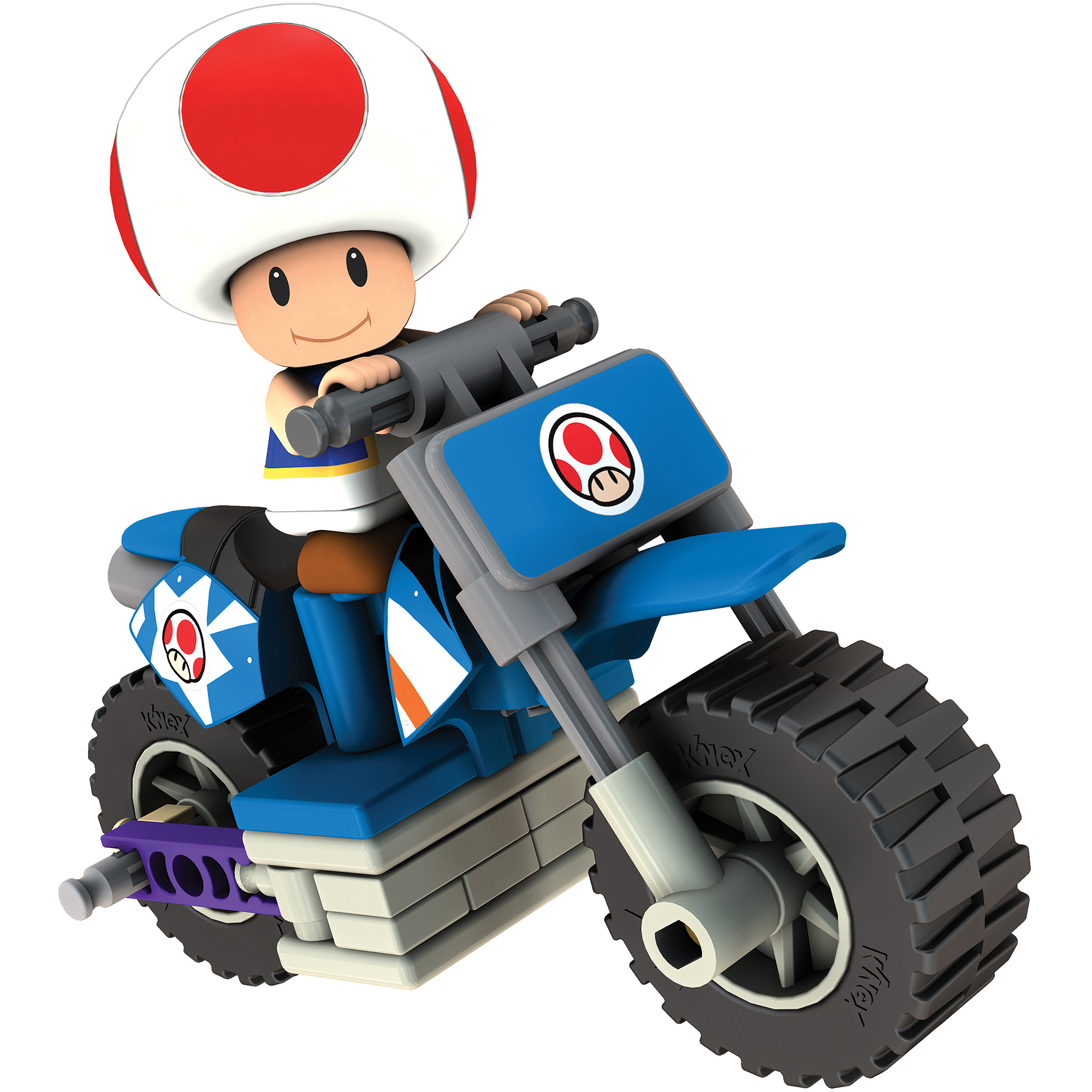 K'NEX Mario Kart Wii Building Set: Toad with Standard Bike