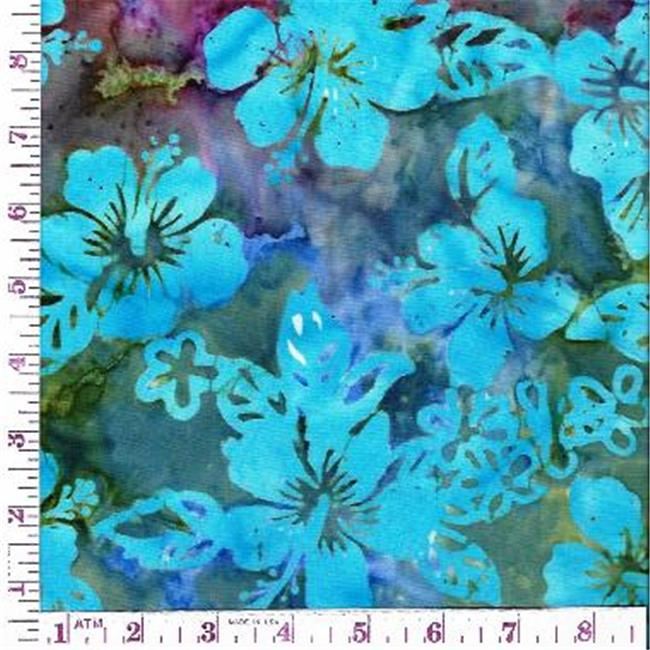 Textile Creations CNJ-056 Central Java, Hibiscus Turq & Purple & Green
