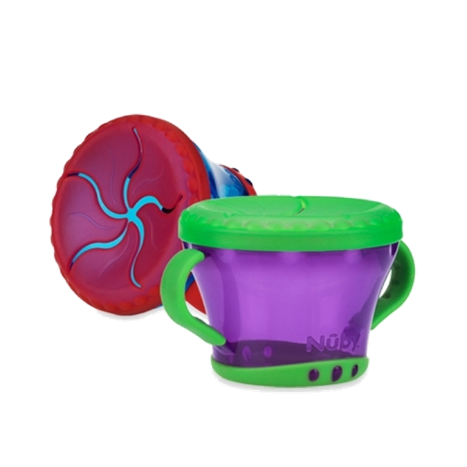 Nuby Snack Keeper Snack Cup, Colors May Vary, 2 pack
