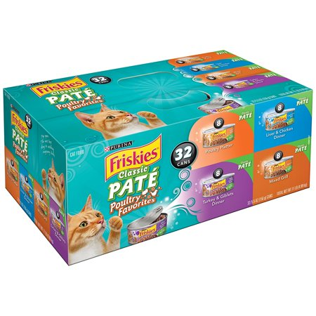 Wet Cat Food  Classic Pate Poultry Favorites Variety Pack  5 5 Oz Cans  Pack Of 32    Give Your Precious Pet A Nice Treat  11 Lbs   Pack Of 2   By Purina Friskies Ship From Us