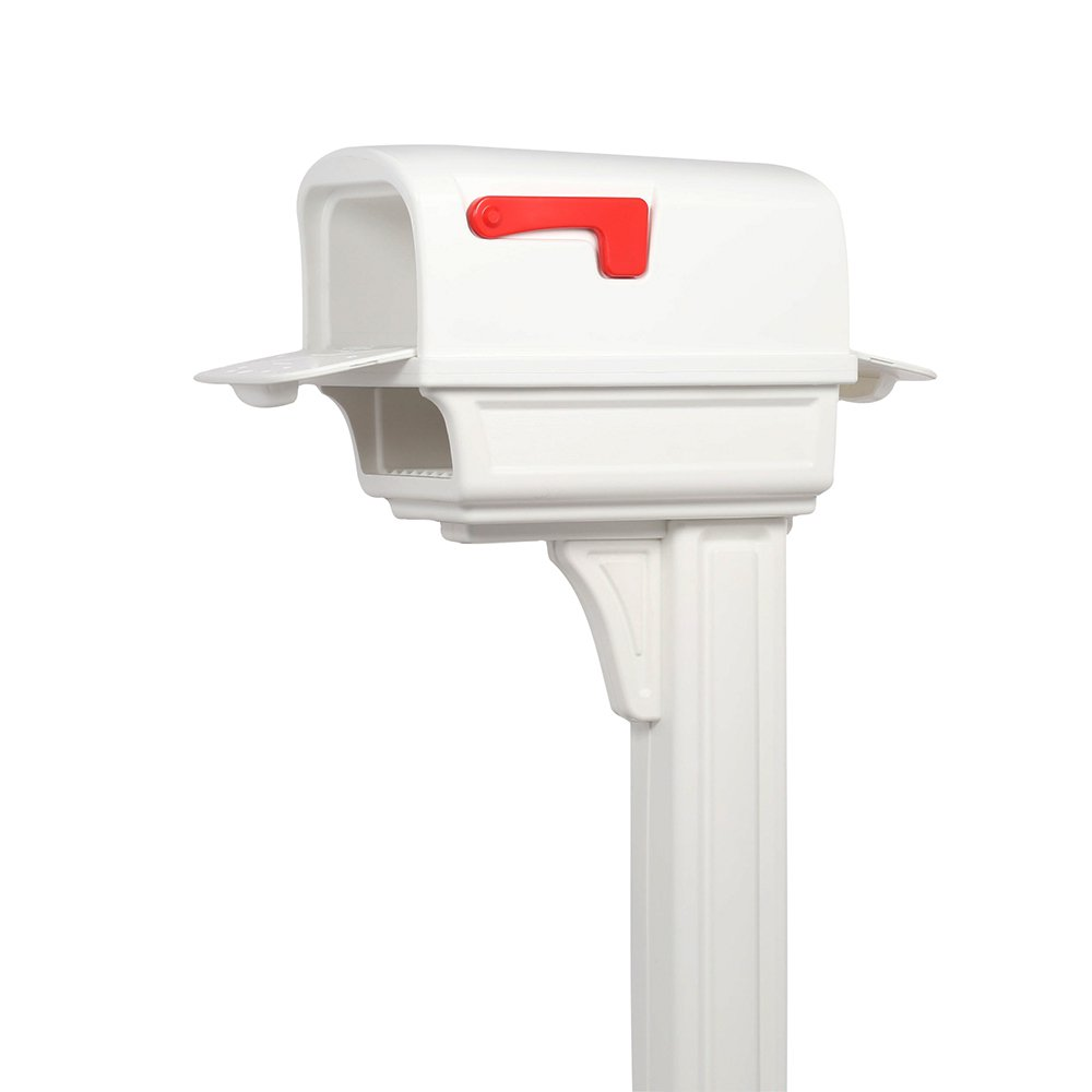 Gibraltar Mailboxes Gentry Large Plastic Mocha All-in-One Mailbox and Post Combo,... by Solar Group Inc.