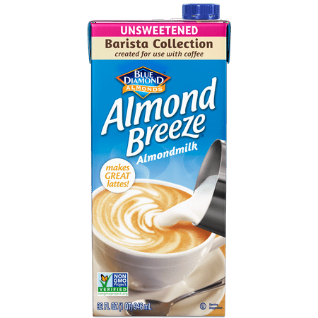 (4 pack) Almond Breeze Barista Blend Unsweetened Original 32 fl oz