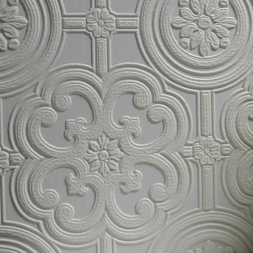 Brewster Home Fashions Anaglypta Paintable Egon 33' x 20.5'' Floral and Botanical 3D Embossed Wallpaper
