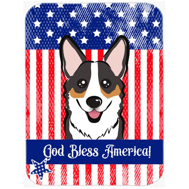 Carolines Treasures BB2185MP God Bless American Flag with Tricolor Corgi Mouse Pad, Hot Pad or Trivet - image 1 of 1