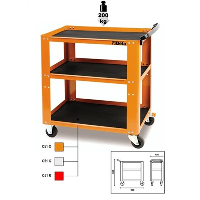 Beta Tools 051000001 C51-O-Easy Trolley - Orange