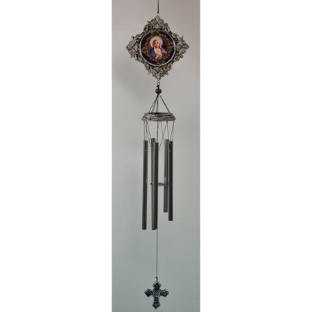 Great World 32 in. Mary Portrait Religious Wind Chime (Religious Chimes)