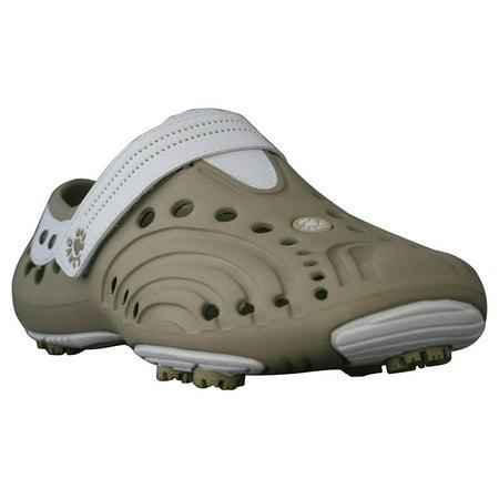 USA Dawgs WGS3969 DAWGS Womens Golf Spirit - Tan-White - Size 10