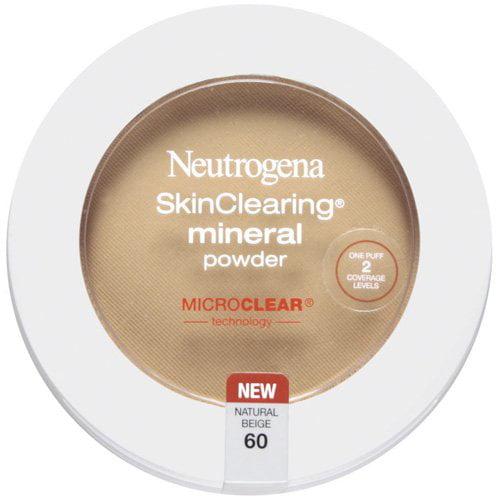 Neutrogena Skinclearing Mineral Powder, Natural Beige 60, 0.38 oz