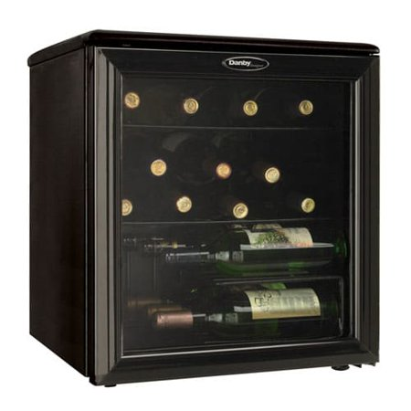 Danby DWC172 17 Bottle Compact Wine Cooler with Reversible Door and 3 (Best Compact Fridge Reviews)