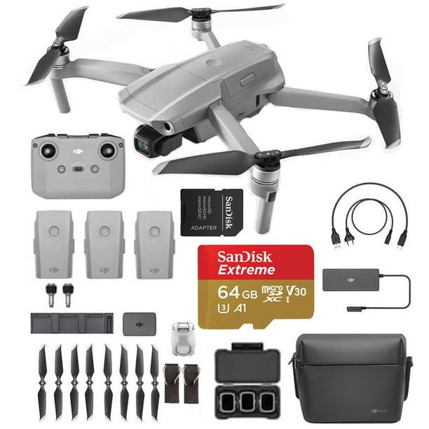 "DJI Mavic Air 2 Fly More Combo, Starter bundle - Drone Quadcopter UAV with 48MP Camera 4K Video 1/2"" CMOS Sensor 3-Axis Gimbal 34min Flight Time ActiveTrack 3.0, Grey. With Extreme SD card"
