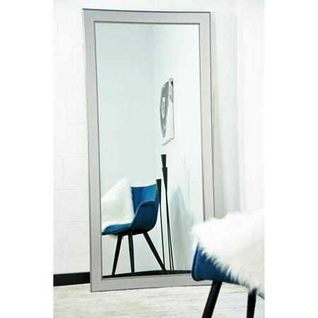 BrandtWorks Silver Elements Tall Vanity Floor Mirror - 32W x 65.5H - Elements Floor