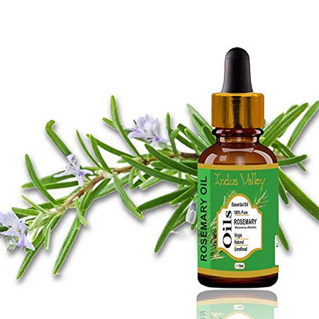 Indus valley 100% pure and natural rosemary essential oil for hair & face care(15ml)