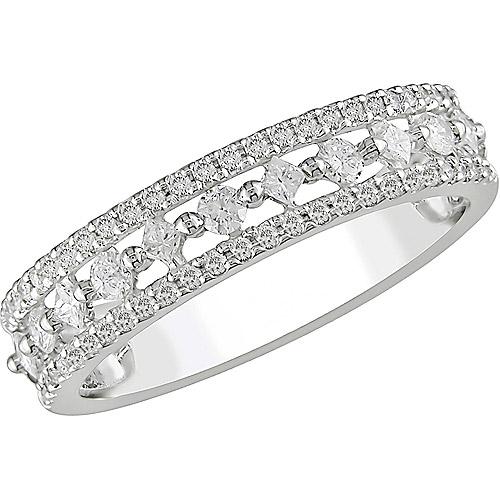 Miabella 1/2 Carat T.W. Princess Cut Diamond Ring in 10kt White Gold