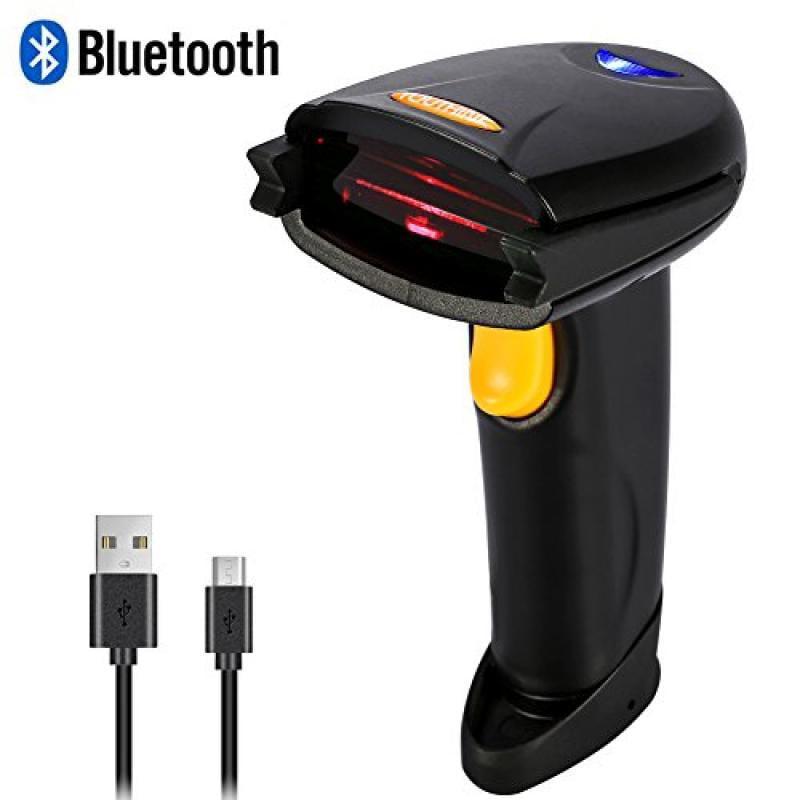 Wireless Bluetooth 4.0 & USB 3.0 Wired Barcode Scanner, 1...