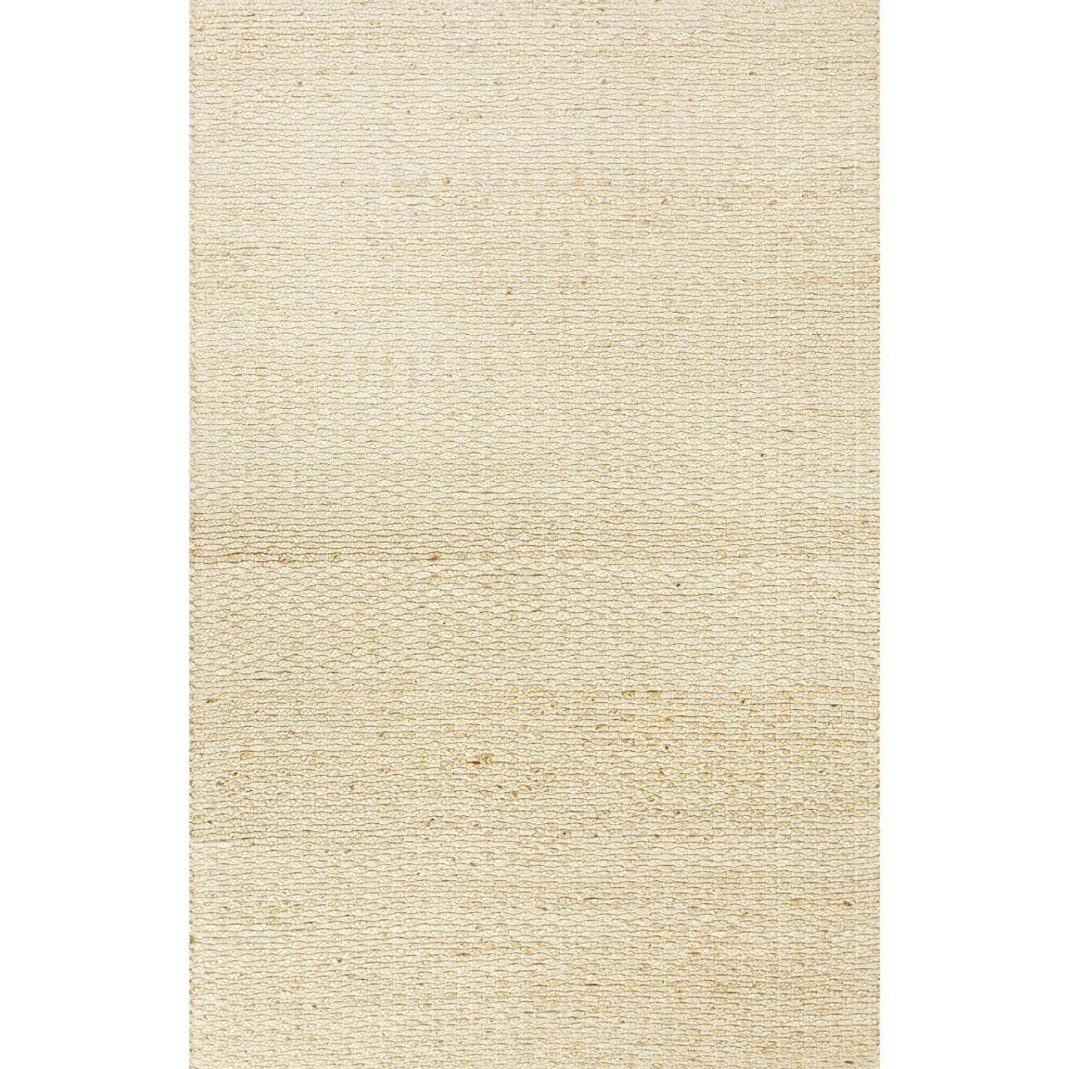 9' x 12'  Beige Naturals Braidley Hand Woven Jute and Chindi Cotton Area Throw Rug
