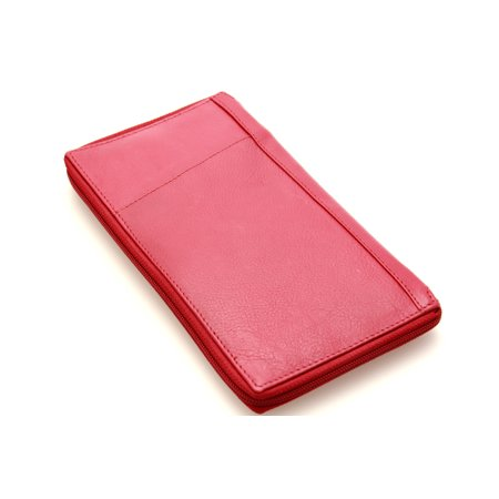 Leather Mens Passport Holder (Paul&Taylor Large Leather Travel Wallet Passport Slot Card Holder Zipper Closed Mens)