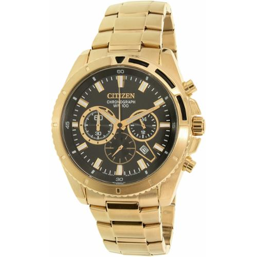 Men's Gold-Tone Citizen Chronograph Stainless Steel Watch AN8012-50E