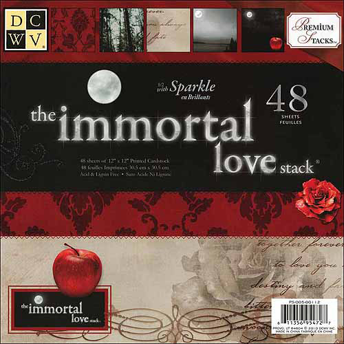 "Diecuts with a View Immortal Love Paper Stack, 12"" x 12"", 48pk"