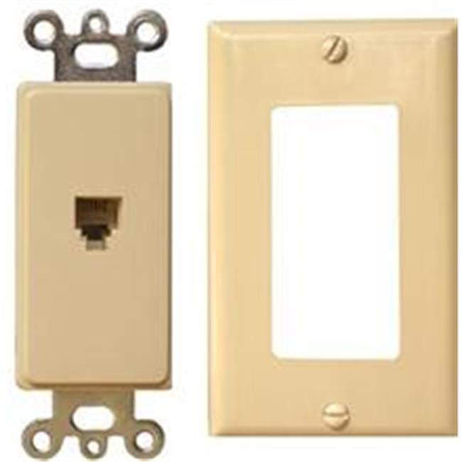 Decorator Phone Jack 2 Piece Ivory