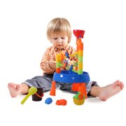Children Summer Beach Toy Large Baby Play Water Windmill Digging Sandglass Tool