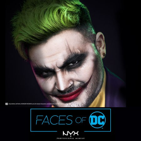 Faces of DC: Joker Halloween Makeup by @alexfaction & NYX Professional Makeup
