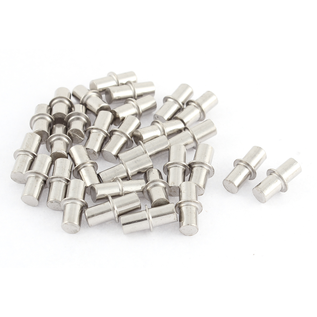 6mm x 17mm Furniture Cupboard Hardware Metal Shelf Support Pins 30 Pcs