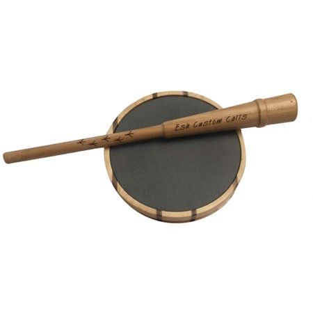 Esh Custom Calls Laminate Turkey Call with Hickory Striker Pot Pan Turkey Calls for Hunting, Laminate Slate thumbnail
