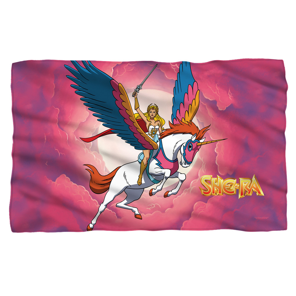 She Ra Clouds Poly 36X60 Blanket White One Size