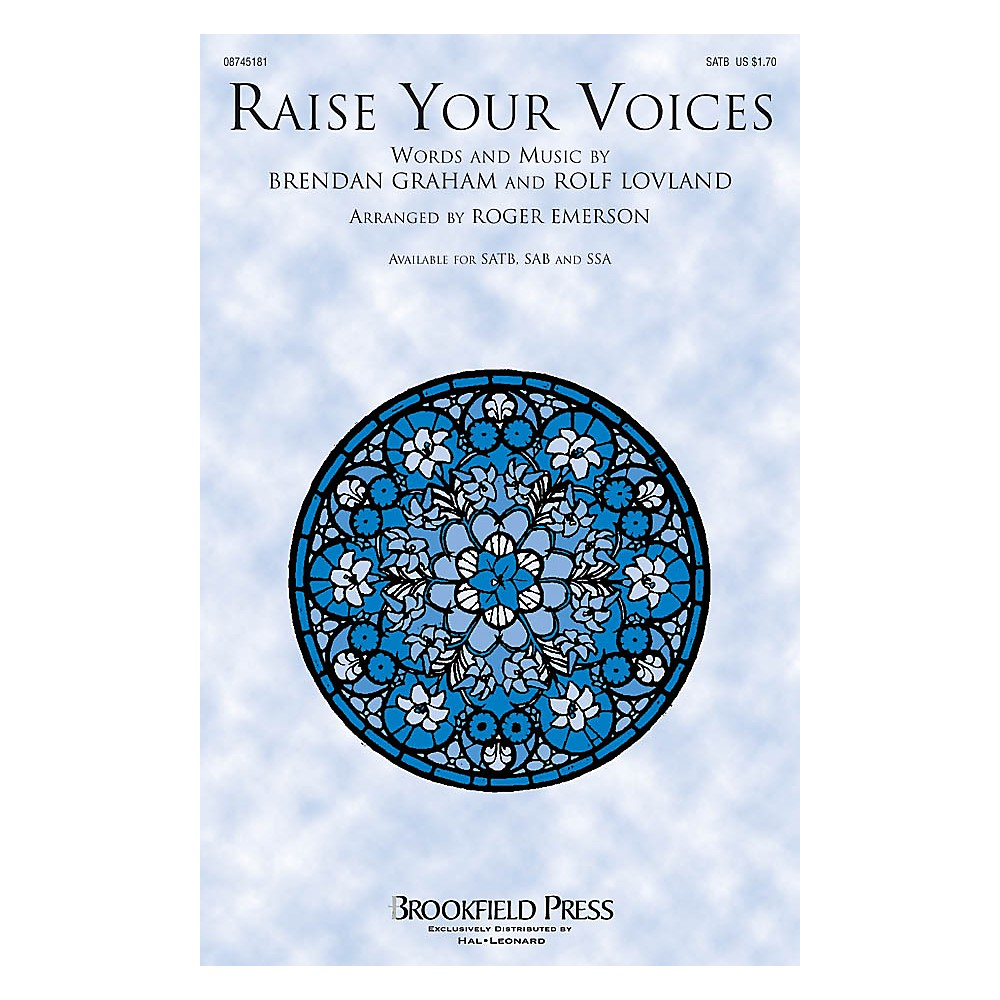 Brookfield Raise Your Voices CHOIRTRAX CD by Secret Garden Arranged by Roger Emerson