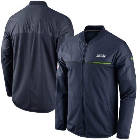 Seattle Seahawks Nike Elite Hybrid Performance Jacket - College Navy Nike Hockey Jacket