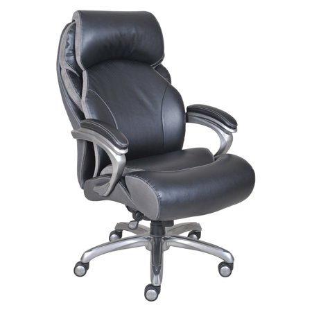 Serta Big and Tall Smart Layers Leather Executive Office Chair with AIR Technology,