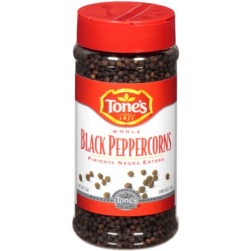 Tones Whole Black Peppercorns, 9 oz