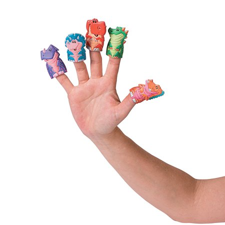 IN-13714614 Dinosaur Puffy Finger Puppets Per Dozen