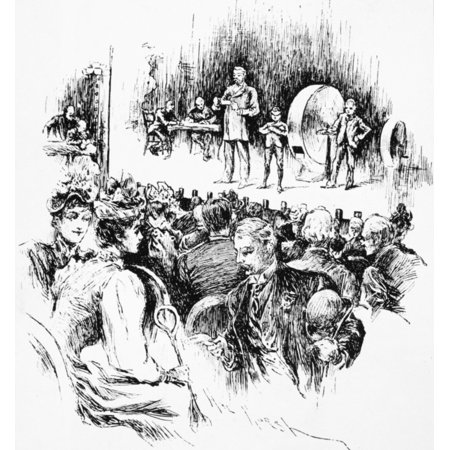 Lottery Drawing 1890 Na Drawing Of The Louisiana State Lottery Company In New Orleans Drawing 1890 Rolled Canvas Art     18 X 24
