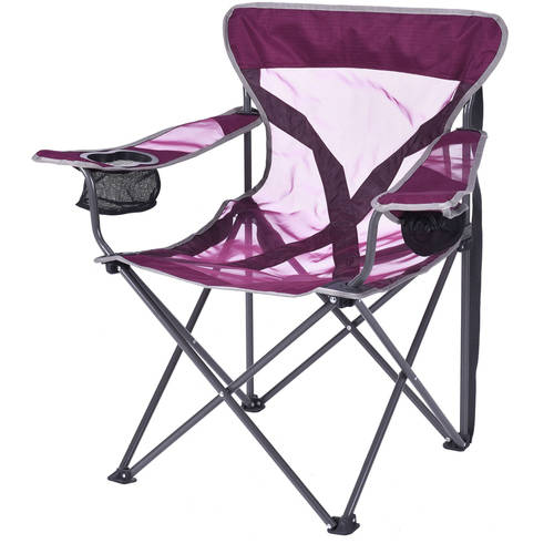 Ozark Trail Deluxe Adult Steel Frame Mesh Chair, Purple
