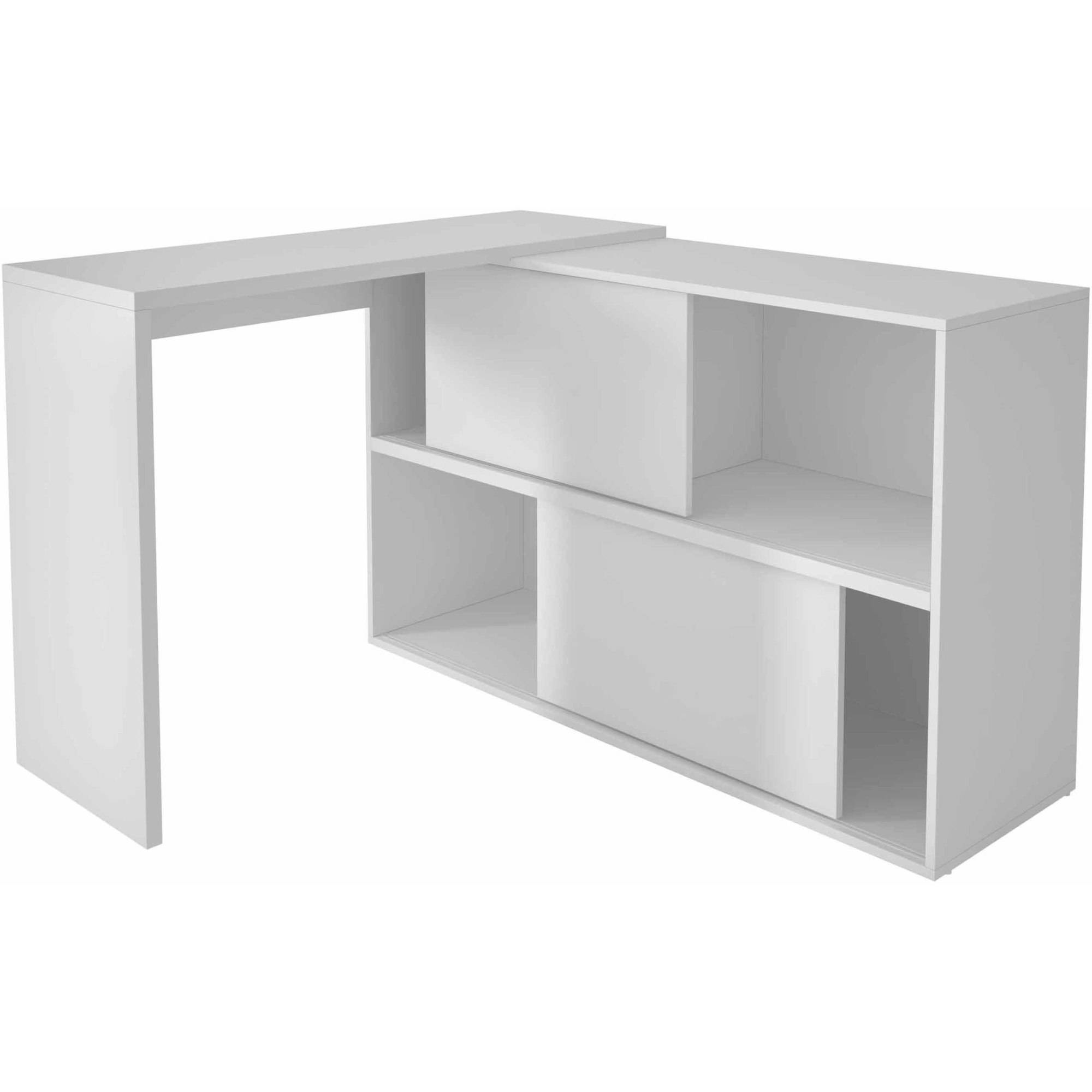 Image of Manhattan Comfort Accentuations Bari Bookcase Desk with 4 Shelves
