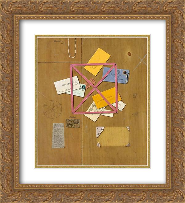 William Michael Harnett 2x Matted 20x24 Gold Ornate Framed Artwork Print 'The Artist's Letter Rack' by FrameToWall