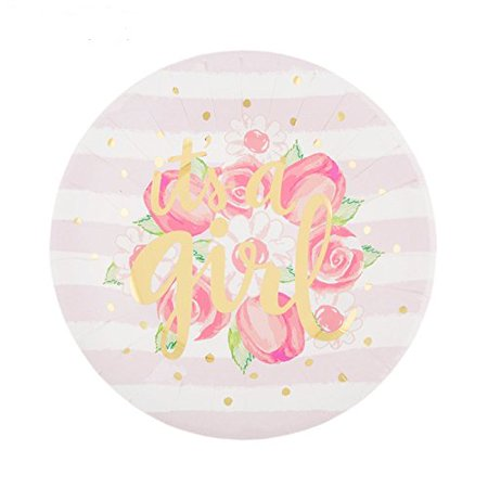 Baby Girl Party Supplies (Welcome Baby Plates - Baby Shower Its A Girl Small Party Supplies 10)