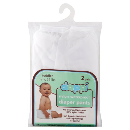 Dappi Nylon Waterproof Diaper Pants Toddler 32 to 35 lbs, 2 count