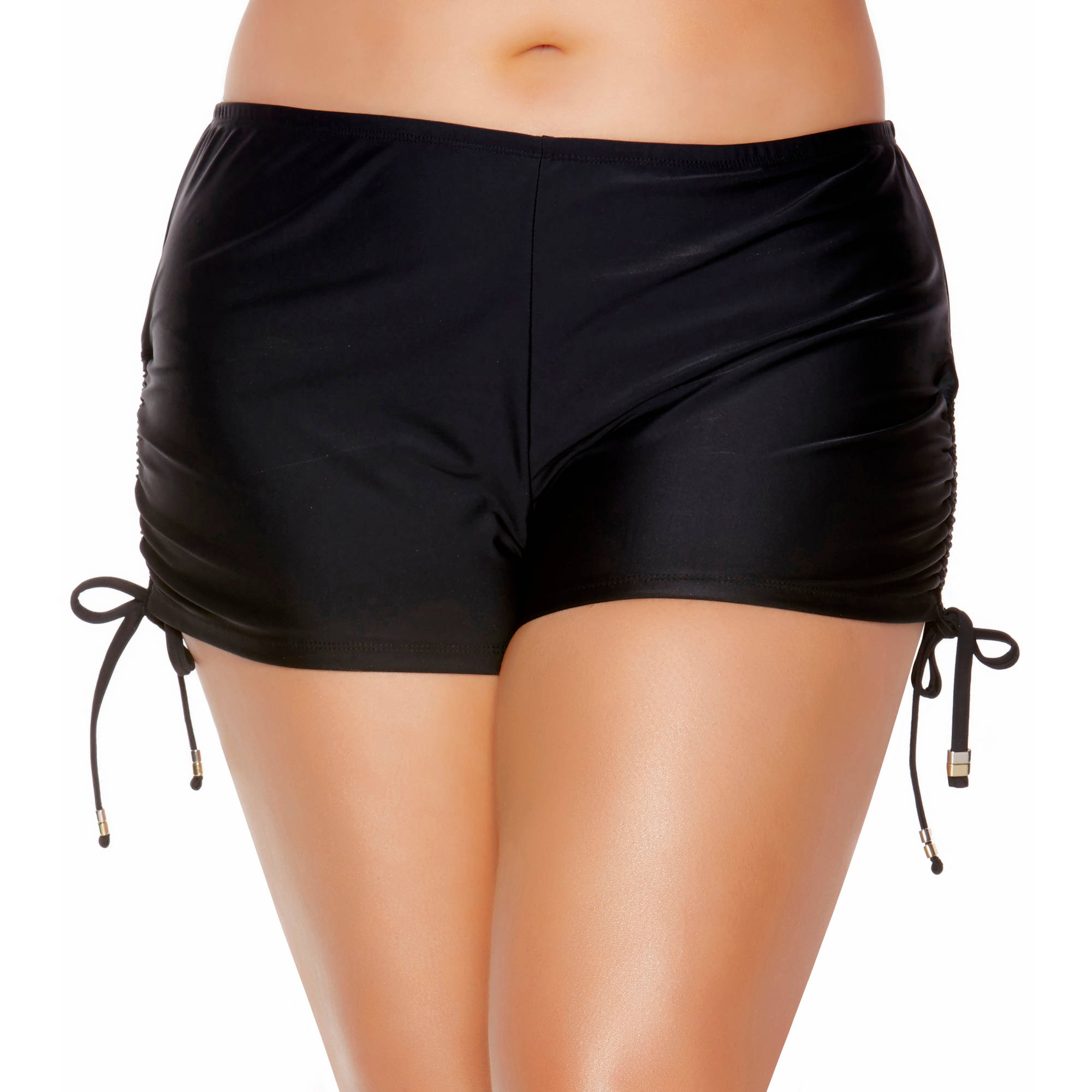 Collections by Catalina Womens Plus-Size Full Coverage Boyshorts With Ties