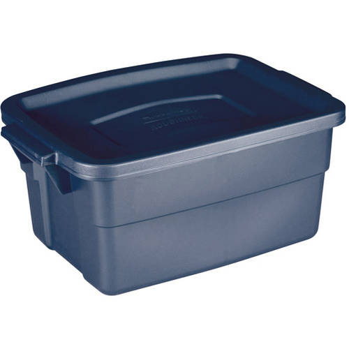 Rubbermaid 3-Gallon (12-Quart) Roughneck Storage Box, Blue, Set of 12