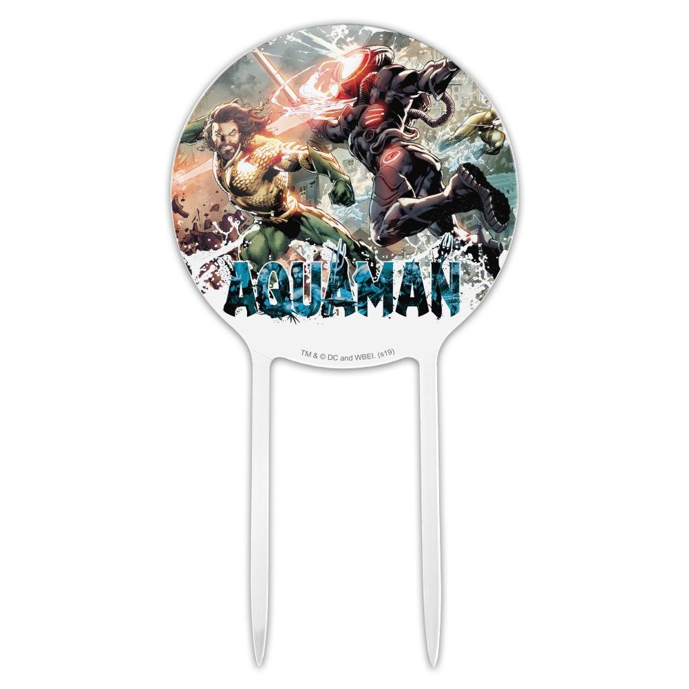 Acrylic Aquaman Movie Aquaman vs Black Manta Cake Topper ...
