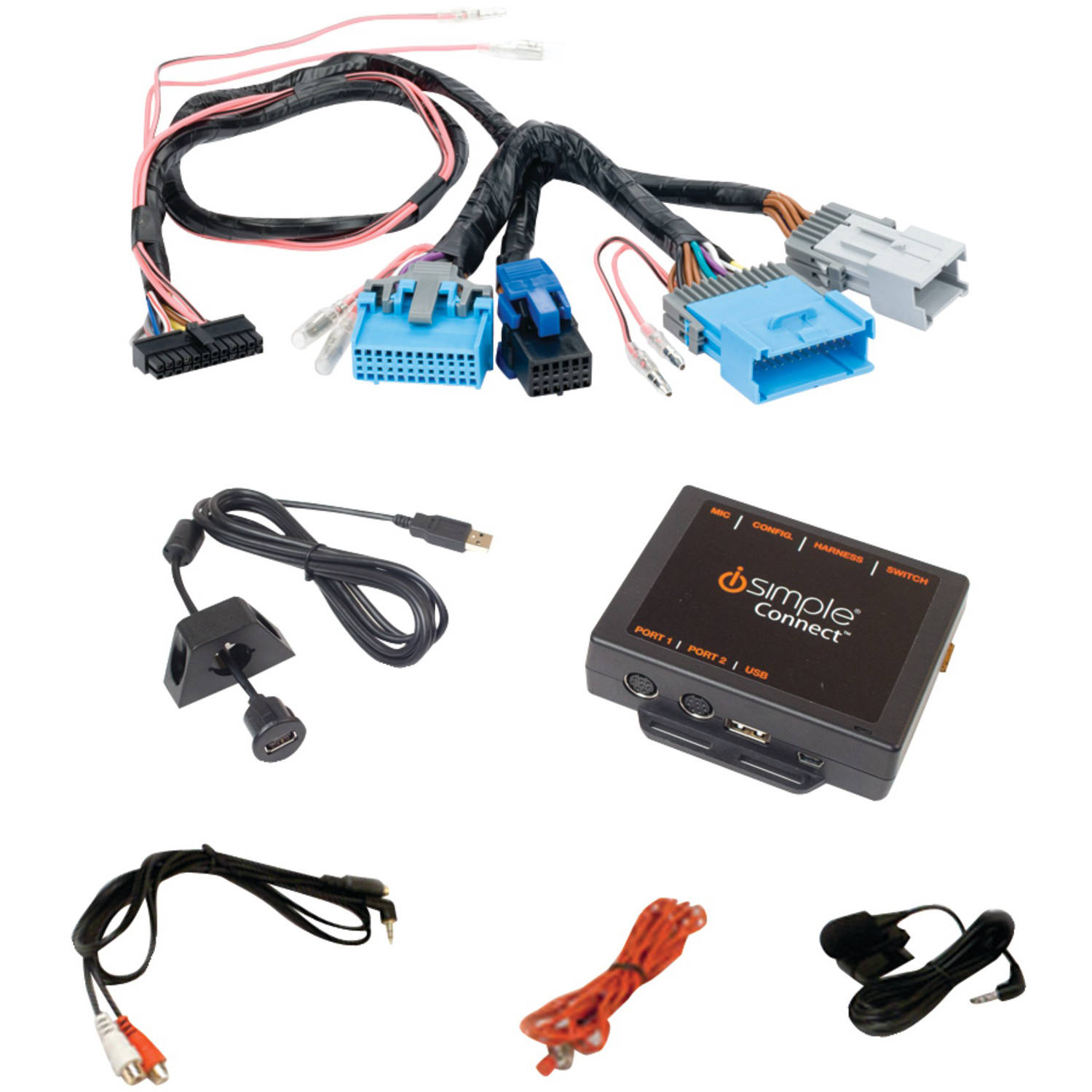 iSimple ISGM655 Droid, Apple iPad/iPhone/iPod and Other Smartphones Factory Radio Interface for Select GM Vehicles