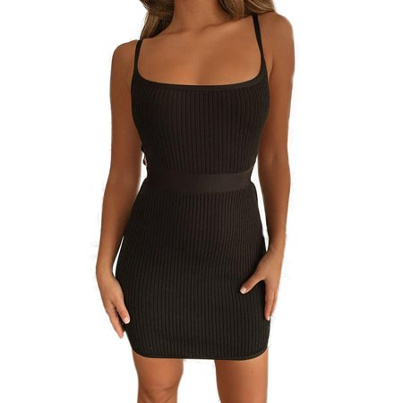 Womens Sleeveless Bodycon Backless Evening Party Cocktail Slimming Mini