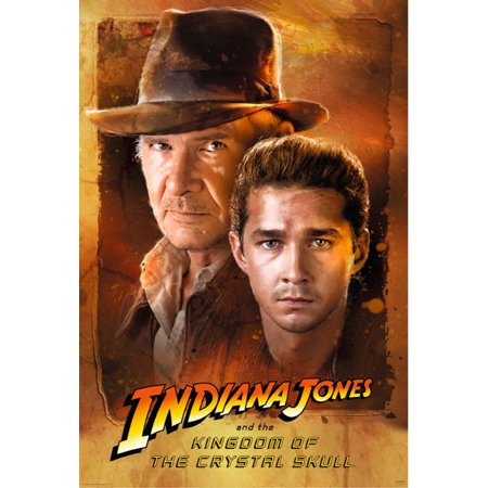 Indiana Jones And The Kingdom Of The Crystal Skull   Movie Poster   Print  Harrison Ford   Shia Labeouf   Size  27  X 40