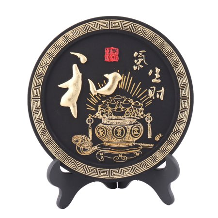 Household Carbon China Style Disk Furniture Decoration Word Carving Decor for $<!---->