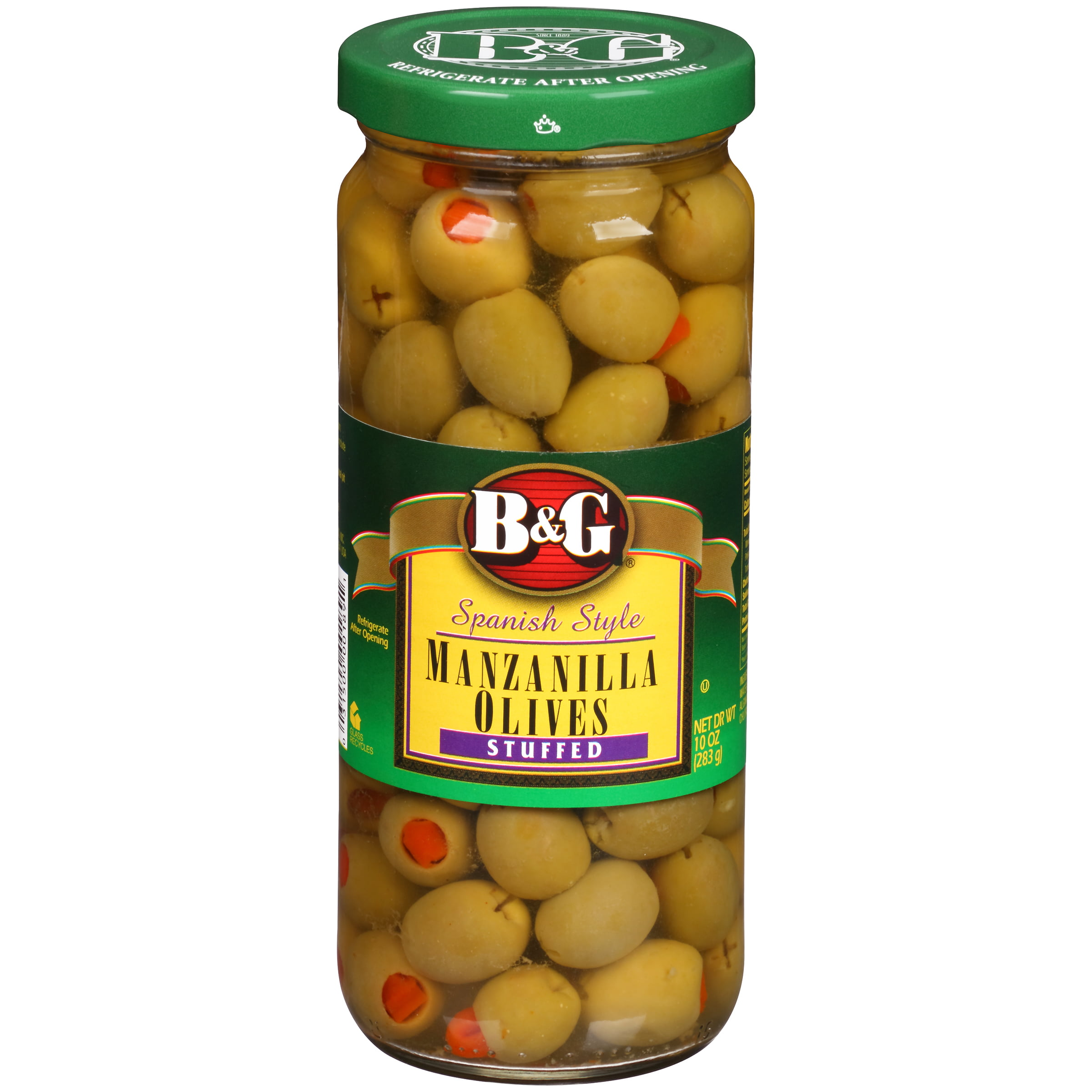 B&G Stuffed Olives Thrown Manzanilla, 10 Oz by B&G