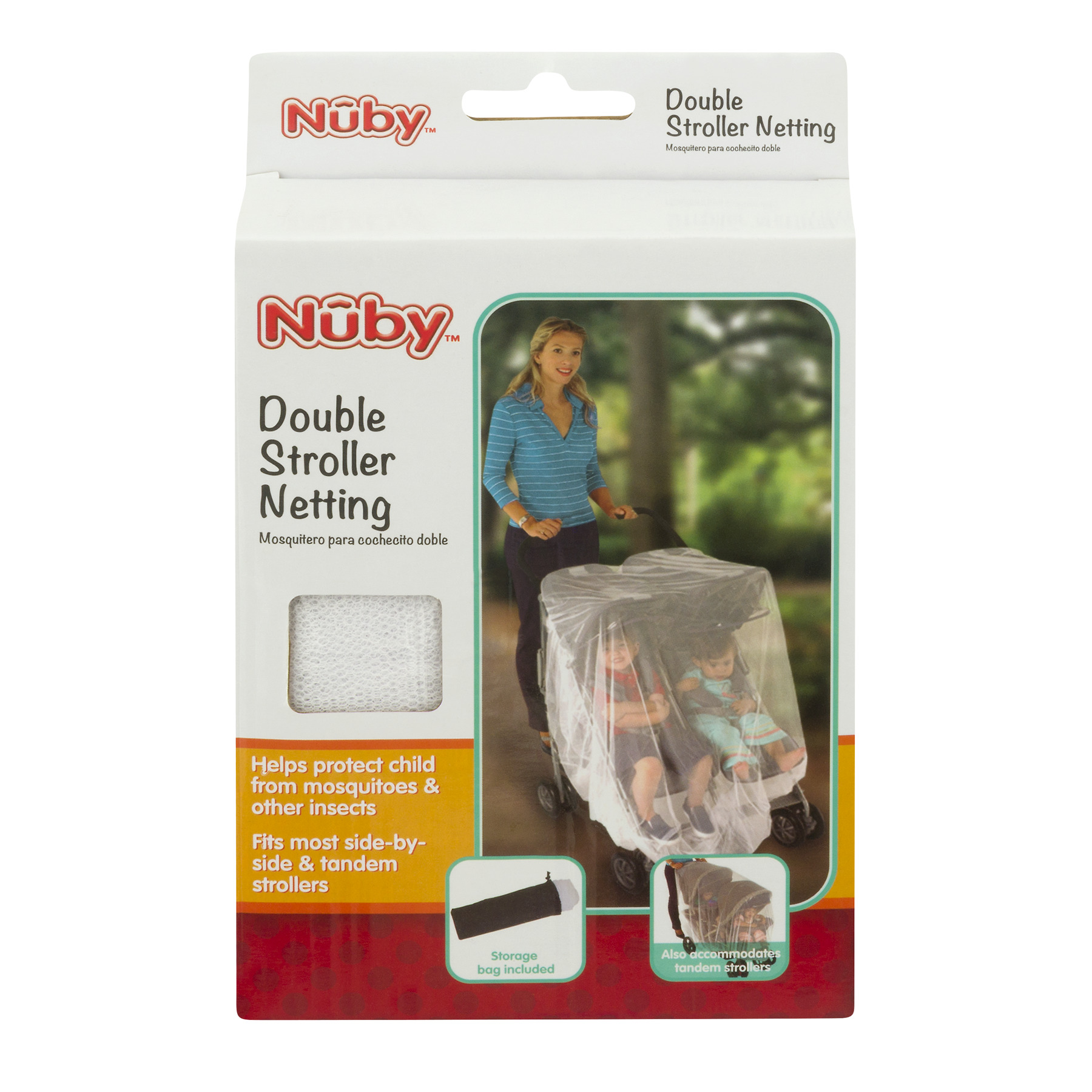 Nuby Double Stroller Netting, 1.0 CT